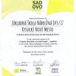 Poďakovanie  v rámci projektu  SadOVO